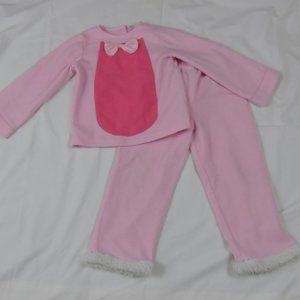 Custom-Made Pink Bunny Costume Girls Fluffy Tail